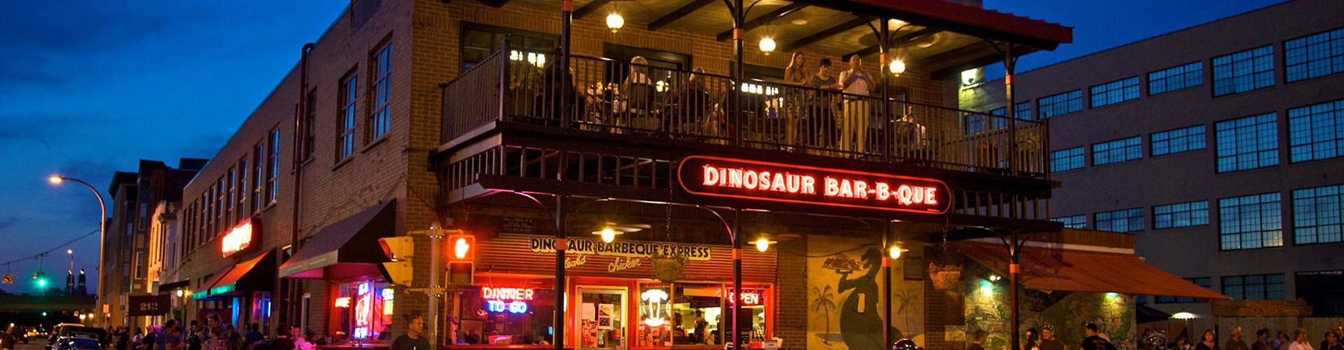 MCK Building Associates Dinosaur BBQ exterior